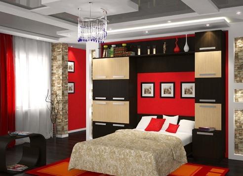 Очень удобна для спальни мебель модульной системы, ведь вы собираете ее самостоятельно и по вашему желанию