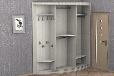 шкафы купе в прихожую фото внутри 40 наполнение и внутренности