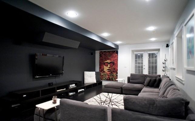 черно белая гостиная фото интерьера тона для зала мебель и дизайн