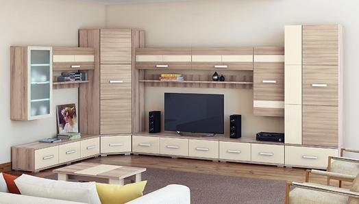 Современный дизайн стенок в зале поможет создать атмосферу гармонии и уюта