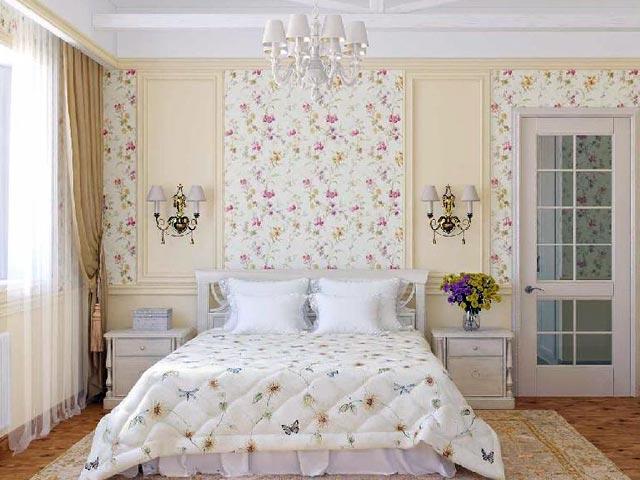 Спальня в стиле прованс сочетает в себе простоту, уют и изысканность