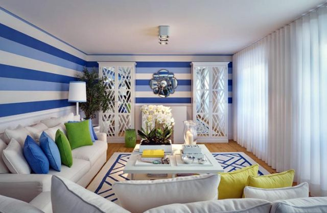 Важную роль в оформлении интерьера гостиной играет цветовая гармония