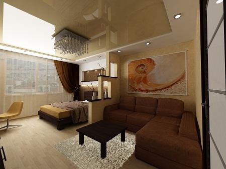 Перед началом обустройства спальни-гостиной стоит сделать ее планировку на бумаге, указав места расположения предметов мебели