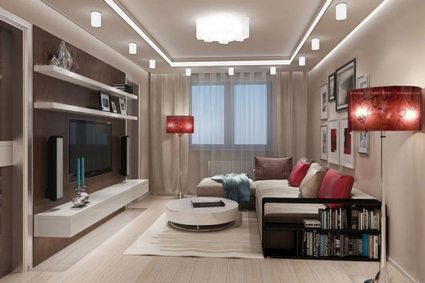 Даже небольшая гостиная может быть комфортной и современной, если правильно подобрать стиль оформления
