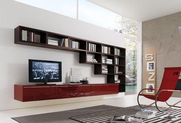 Красиво дополнить интерьер гостиной можно при помощи стильной и оригинальной горки