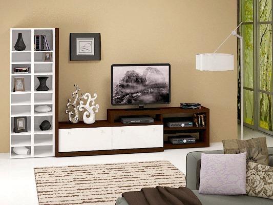 Мебель под телевизор в гостиной должна быть практичной и привлекательной