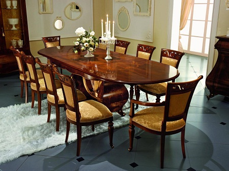 Стол является важнейшим атрибутом гостиной, который делает ее функциональной и удобной