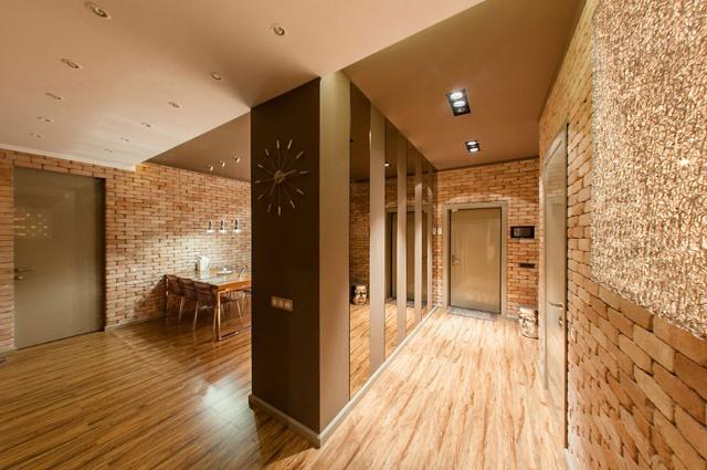 прихожая в стиле лофт коридора фото интерьер с мебелью дизайн