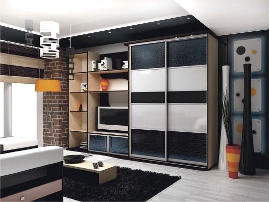 Правильно подобранный шкаф сделает интерьер гостиной стильным и красивым