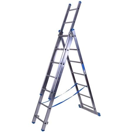 Трехсекционная лестница на сегодняшний день является достаточно популярной, поскольку она часто используется в бытовых целях