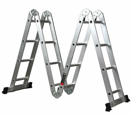 Используя универсальную лестницу-трансформер Алюмет, можно существенно ускорить выполнение ремонтных работ