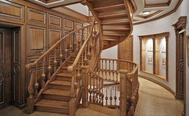 Лестницы из дуба: заказать ступени из массива, фото деревянных ...