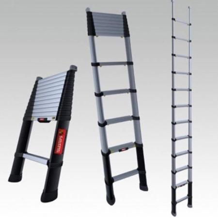 Быстро справиться с ремонтными работами поможет практичная телескопическая лестница