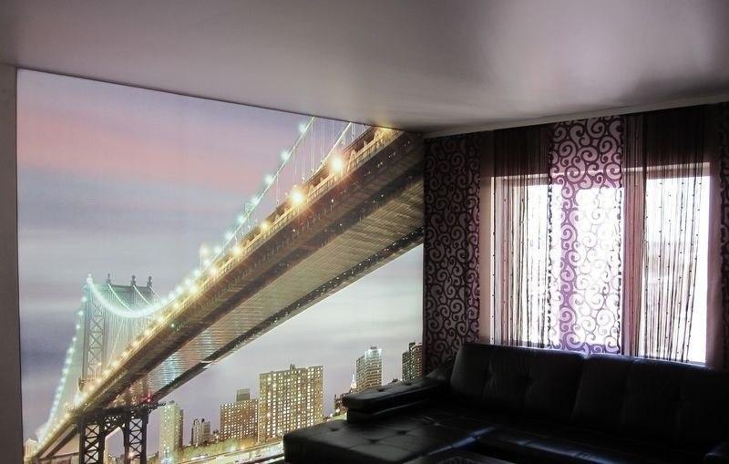 Настенные натяжные потолки - это красиво, изысканно и стильно