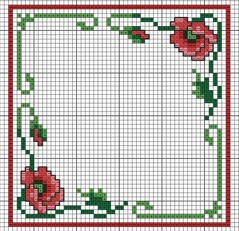 Схемы вышивки крестом: 5 секретов красивых салфеток, вышивка крестом для банок