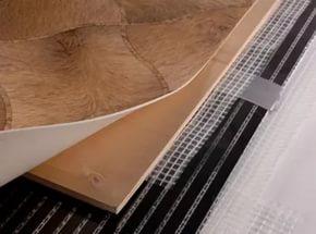 Установить теплый пол пленочного типа под линолеум просто и на это не понадобится много времени