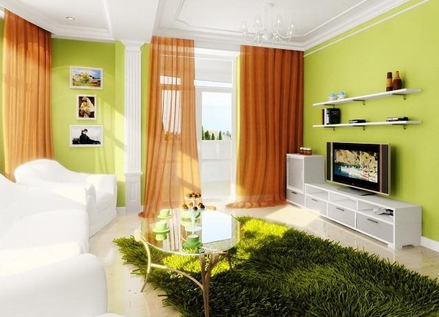 Ознакомиться с различными примерами штор, которые подойдут под зеленые обои, с легкостью можно в интернете