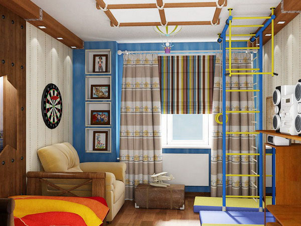 Выбирая шторы в детскую для мальчика, родители должны руководствоваться интересами и потребностями ребенка
