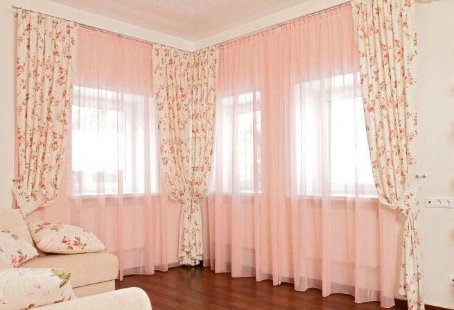 Выбирая угловые шторы, изучите стилистику и определите r*n размеры помещения