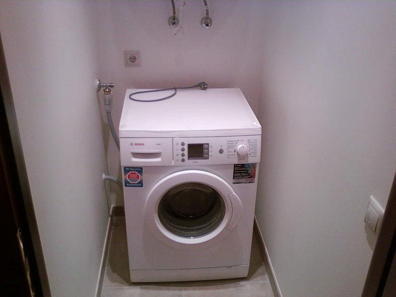Подключение стиральной машинки не занимает много времени