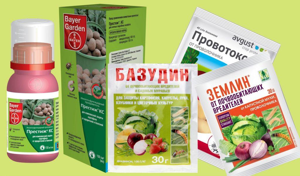Химические препараты для борьбы с проволочником