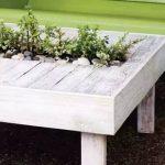 Столик садовый с растениями