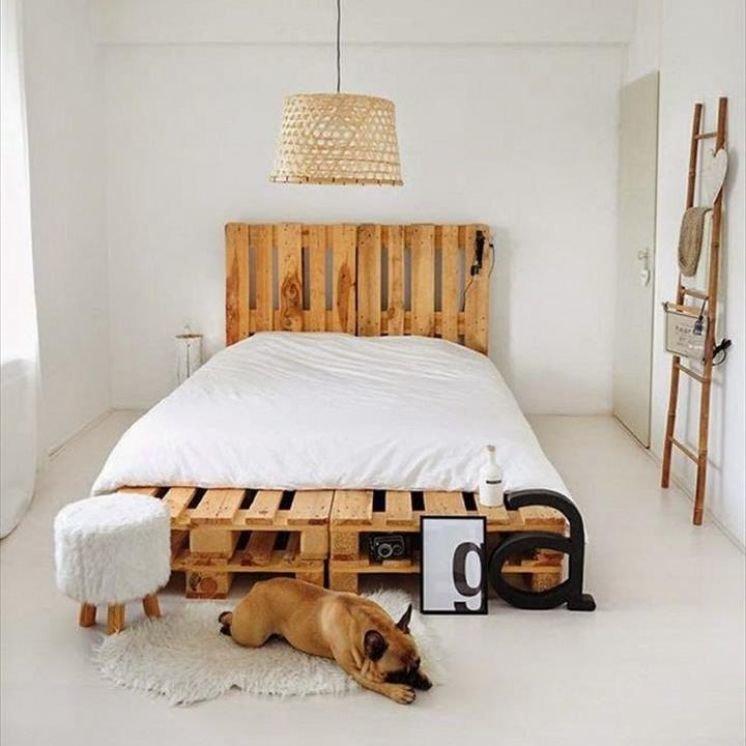 кровать из поддонов лофт