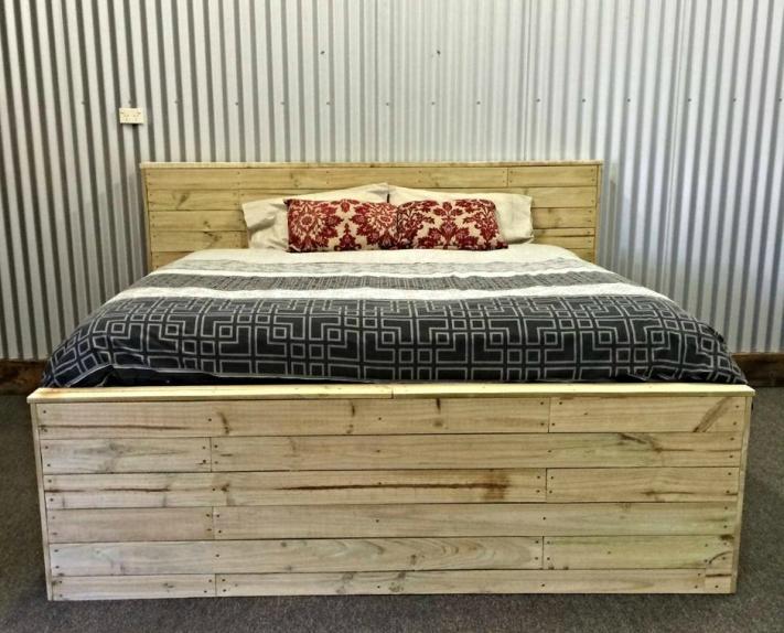 кровать из поддонов без просветов