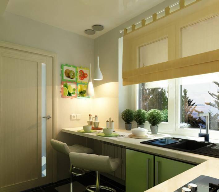подоконник-стол на кухне