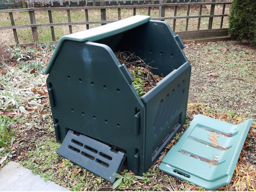 Пластиковый ящик для компоста