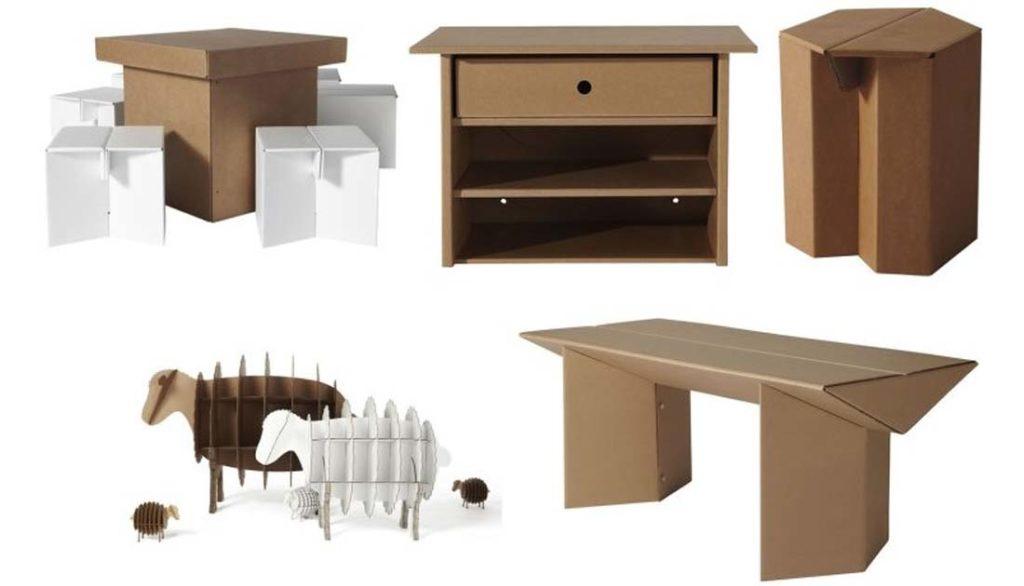 Мебель из картона: 5 полезных свойств