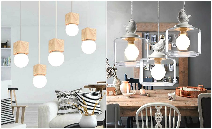 Скандинавский стиль интерьера светильники