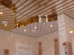 Алюминиевые реечные потолки имеют превосходный вид, который сохраняется в течении долгих лет