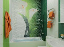 Панно сможет добавить вашей ванной комнате оригинальности и индивидуальности