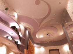 Подвесные потолки не требуют сильных затрат и при этом выгладят очень эффектно