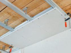 Гипсокартон - популярный материал для монтажа подвесных потолков