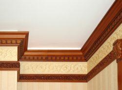 Потолочный плинтус используется для декоративного оформления натяжного потолка
