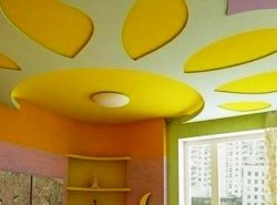 Покраска потолка из гипсокартона позволит достичь максимальной эстетичности отделки
