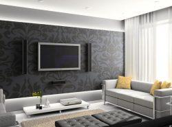 Зал является основной комнатой, где проводится почти все время с семьей и гостями, поэтому обои должны создавать интересный и спокойный интерьер