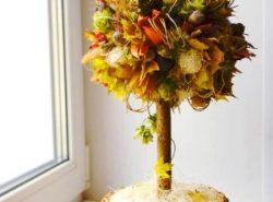 Осенний топиарий - это не только отличный подарок, но и оригинальный предмет декора