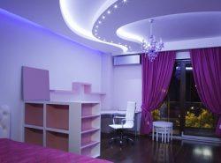 Потолок из гипсокартона позволяет создать стильный и необычный дизайн, подчеркивающий особенности жилого помещения