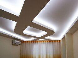 Подсветка потолка светодиодной лентой – альтернативный вариант распределения освещения в помещении