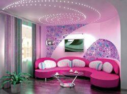 Существует много вариантов отделок для потолка, главное, чтобы они дополняли дизайн комнаты