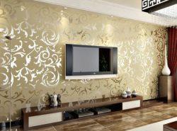 Виниловые оби в интерьере гостиной придают помещению изысканный вид