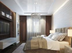 Красивую и уютную спальню можно создать в современном стиле, используя разные цвета