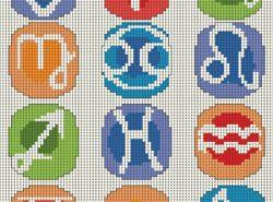 Вышивка крестиком знаков зодиака оригинально украсит ваши вещи