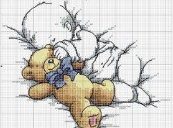 Вышивка крестиком детской метрики останется на память вашему ребенку на долгие годы