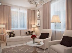 В выборе дизайна маленькой гостиной следует учитывать множество факторов