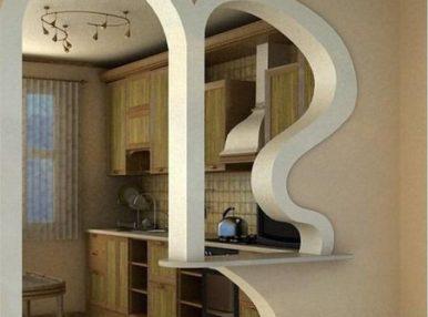 Красивая арка поможет расширить пространство и обновить интерьер помещения