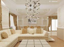 Оформив гостиную в светлых тонах, вы создадите неповторимый дизайн в комнате
